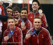 Canada edges China for men's team bronze at Pacific Rim Gymnastics Championships; photo by Grace Chiu Grace Click