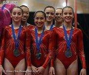 Canadian women win team silver at Pacific Rim Gymnastics Championships; Photo by Grace Chiu Grace Click